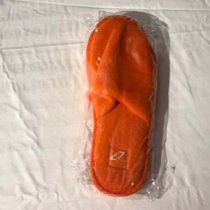 Orange bathroom house slippers